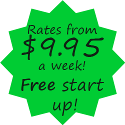 Free Start Up | Rates from $9.95/week